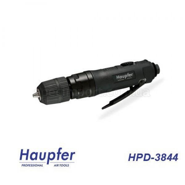 Дрель пневматическая прямая HAUPFER HPD-3844 (быстрозажимной патрон, регулятор оборотов)